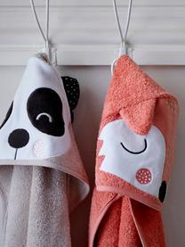 Cape de bain en coton bio Fox Frida, Rose, blanc, noir
