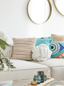 Poszewka na poduszkę z juty Feaka, Beżowy, kremowobiały, S 40 x D 40 cm