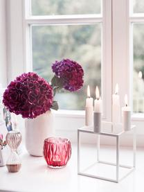 Kerzenhalter Kubus, Stahl, lackiert, Weiß, 14 x 20 cm