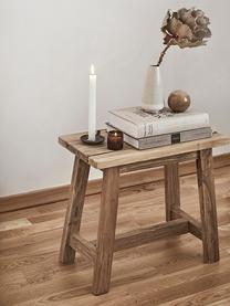Sgabello in legno di teak Lawas, Legno di teak, finitura naturale, Colore teak, Larg. 50 x Alt. 46 cm