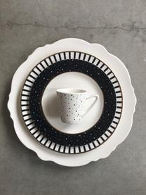 Talerz duży Muschel Loft, 4szt., Porcelana, Biały, Ø 26 x W 2 cm