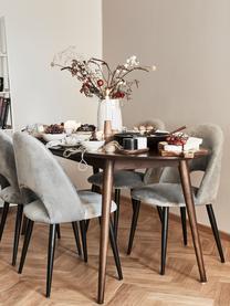 Owalny stół do jadalni z litego drewna Oscar, Lite drewno mangowe, lakierowane, Ciemnybrązowy, S 203 x G 97 cm