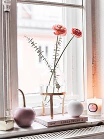 Duftkerze Aromatherapy (Rose, Fresie & Lilie), Behälter: Glas, Transparent, Weiß, Rosé, Ø 8 x H 9 cm