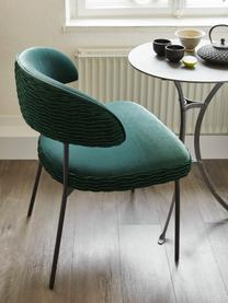 Chaise velours rembourré The Winner Takes It All, Vert