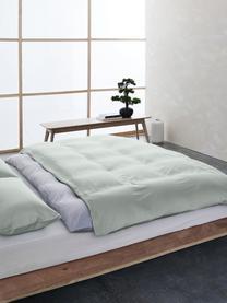 Bambus-Bettwäsche Skye in Salbeigrün, 55% Bambus, 45% Baumwolle  Fadendichte 400 TC, Premium Qualität  Bambus ist hypoallergen und antibakteriell. Daher eignet das Material sich hervorragend für empfindliche Haut. Es ist amungsaktiv und absorbiert Feuchtigkeit, um so die Körpertemperatur im Schlaf zu regulieren., Salbeigrün, 240 x 220 cm + 2 Kissen 80 x 80 cm