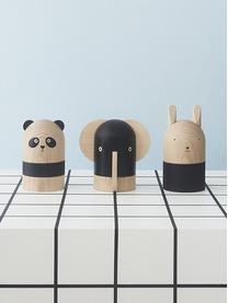 Spardose Ninka, Buchenholz, Holz, Schwarz, Ø 10 x H 19 cm