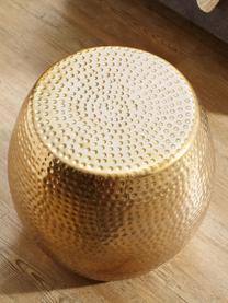 Kleiner Beistelltisch Wohnling im orientalischen Design, Aluminium, beschichtet, Messingfarben, Ø 42 x H 42 cm
