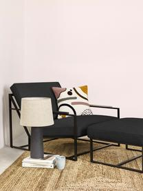 Chaise lounge Andy, 2 élém., Tissu anthracite