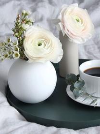 Ręcznie wykonany wazon Ball, Ceramika, Biały, Ø 10 x W 10 cm