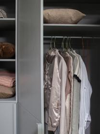 Kleiderschrank Pure in Grau, Kiefernholz, beschichtet, Grau, 142 x 215 cm