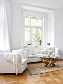 Lichte alpacawollen plaid Luxury in crème kleur, Beige, wit, 130 x 200 cm