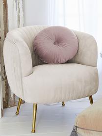 Poduszka okrągła z aksamitu z wkładem Monet, Tapicerka: 100% aksamit poliestrowy, Brudny różowy, Ø 40 cm