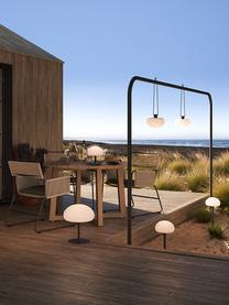 Zewnętrzna mobilna lampa stołowa z funkcją przyciemniania Sponge, Biały, czarny, Ø 20 x W 22 cm