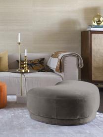 Panca imbottita in velluto grigio Coconino, Rivestimento: velluto di cotone (89% co, Struttura: legno di pino Tappezzeria, Grigio, Larg. 160 x Alt. 36 cm