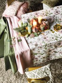 Kissenhülle Vanja in Grün/Beige, 52% Polyester, 32% Viskose, 16% Leinen, Beige, Grün, 45 x 45 cm