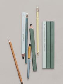Potlodenset Carpenter, 3-delig, Hout, grafiet, Groen, lichtblauw, 2 x 18 cm