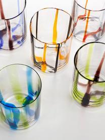 Verre à eau en verre soufflé, multicolore Tirache, 6élém., Multicolore