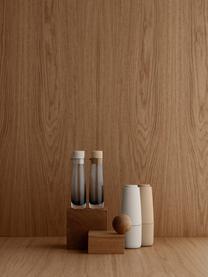 Zout- en pepermolen Salpi in beige, Deksel: kunststof, Beige, lichtgrijs, Ø 7  x H 20 cm