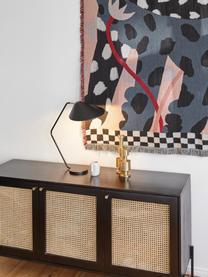 Große Schreibtischlampe Neron in Schwarz-Gold, Lampenschirm: Metall, pulverbeschichtet, Lampenfuß: Metall, pulverbeschichtet, Dekor: Metall, vermessingt, Black, T 57 x H 56 cm