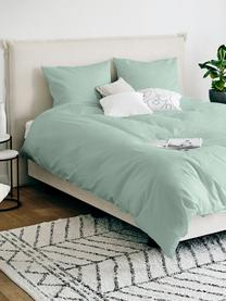 Katoensatijnen dekbedovertrek Comfort, Weeftechniek: satijn, licht glanzend, Saliegroen, 240 x 220 cm