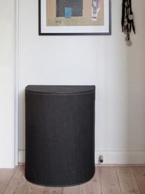 Wäschekorb Sascha, Recycelte Papierfasern, fest verarbeitet, Schwarz, 48 x 57 cm