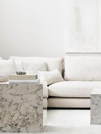 Leinen-Kissenhülle Luana in Cremeweiß mit Fransen, 100% Leinen, Cremeweiß, 30 x 50 cm