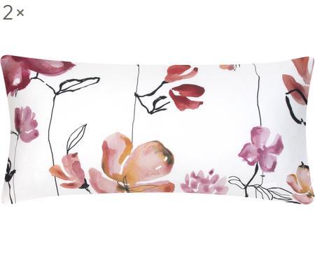 Povlak na polštář z bavlněného saténu skvětinovým vzorem Spring, 2 ks