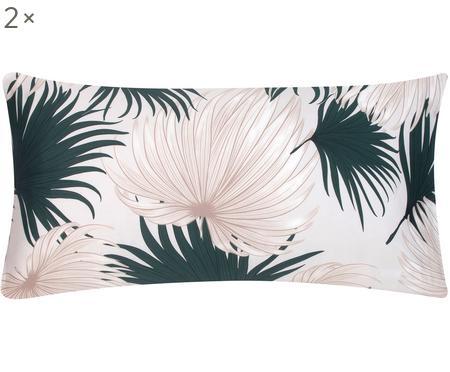 Baumwollsatin-Kissenbezüge Aloha, 2 Stück