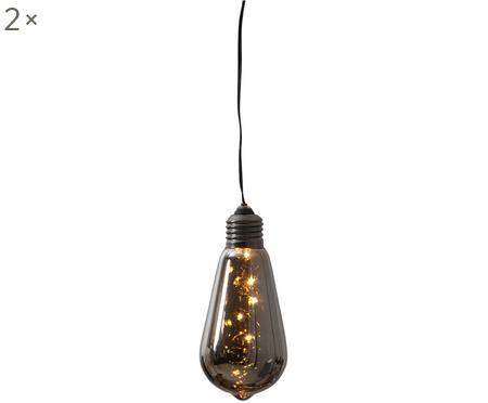 LED Dekoleuchten Glow mit Timer, 2 Stück