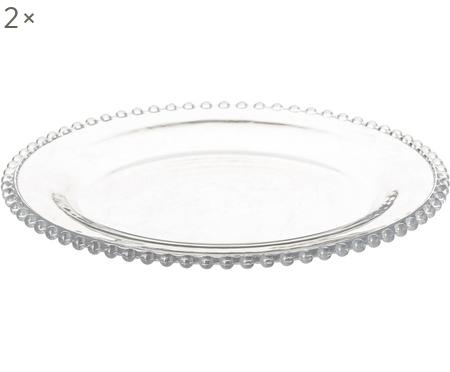 Glas-Speiseteller Perles, 2 Stück