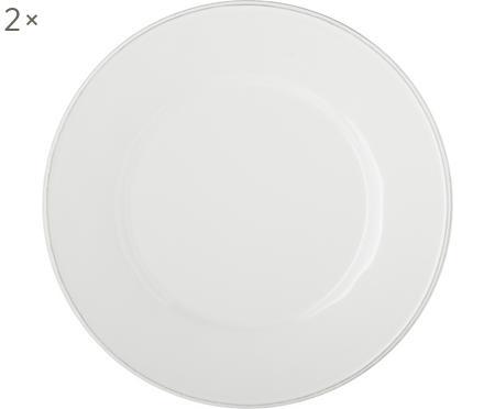 Speiseteller Constance in Weiß, 2 Stück