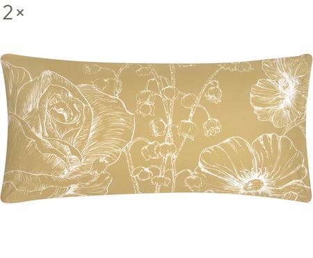 Baumwollperkal-Kissenbezüge Keno mit Blumenprint, 2 Stück