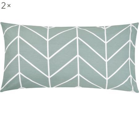 Povlak na polštář zbavlny renforcé s grafickým vzorem Mirja, 2ks