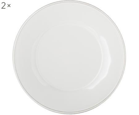 Piatto da colazione bianco Constance 2 pz