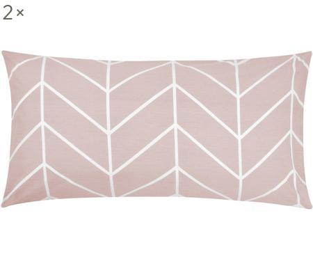 Renforcé-Kissenbezüge Mirja mit grafischem Muster, 2 Stück