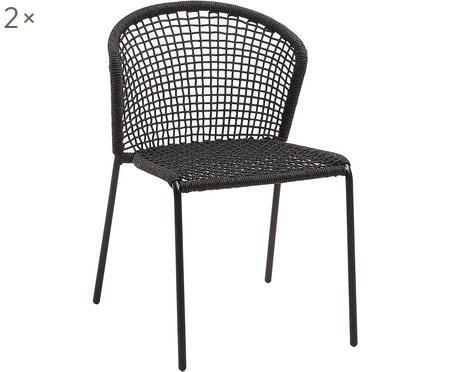 Chaises de jardin Mathias, 2pièces