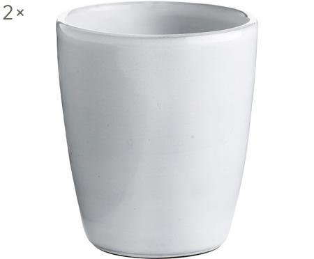 Keramik-Becher Haze in Weiß, 2 Stück