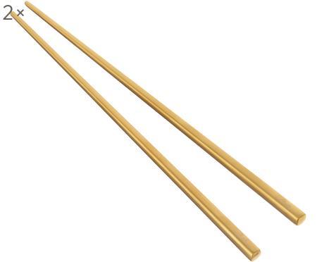 Set 6 bacchette dorate in acciaio inossidabile Chop