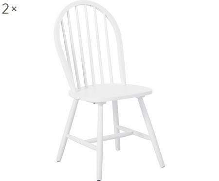 Houten Windsor stoelen Megan, 2 stuks