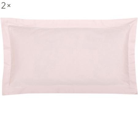 Baumwollsatin-Kissenbezüge Premium in Rosa mit Stehsaum, 2 Stück