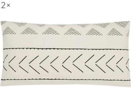 Poszewka na poduszkę z bawełny z efektem sprania Kohana, 2 szt.