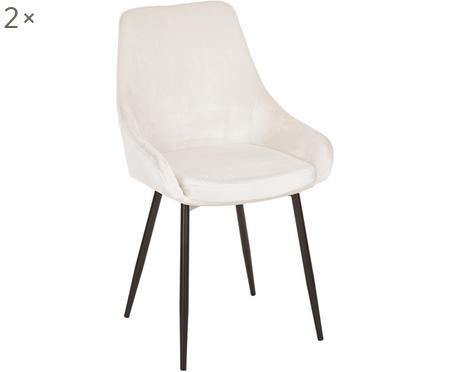 Krzesła z aksamitu East Side, 2 szt.