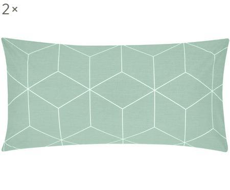 Baumwoll-Kissenbezüge Lynn mit grafischem Muster, 2 Stück