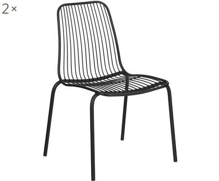 Krzesło ogrodowe z metalu Tirana, 2 szt.
