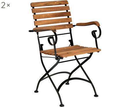 Klapstoelen Parklife met armleuningen, 2 stuks