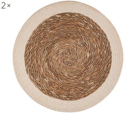 Runde Seegras-Tischsets Sauvage, 2 Stück