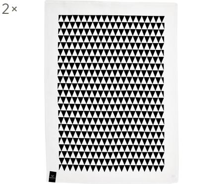 Halbleinen-Geschirrtücher Dreieck, 2 Stück