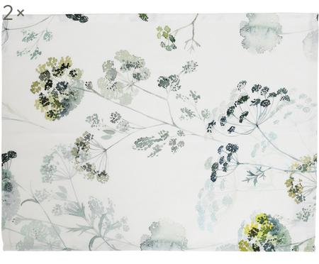 Set de table blanc Herbier, 2 pièces