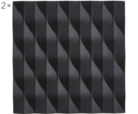 Topfuntersetzer Origami Wave, 2 Stück