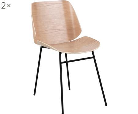 Chaises en bois Aks, 2 pièces